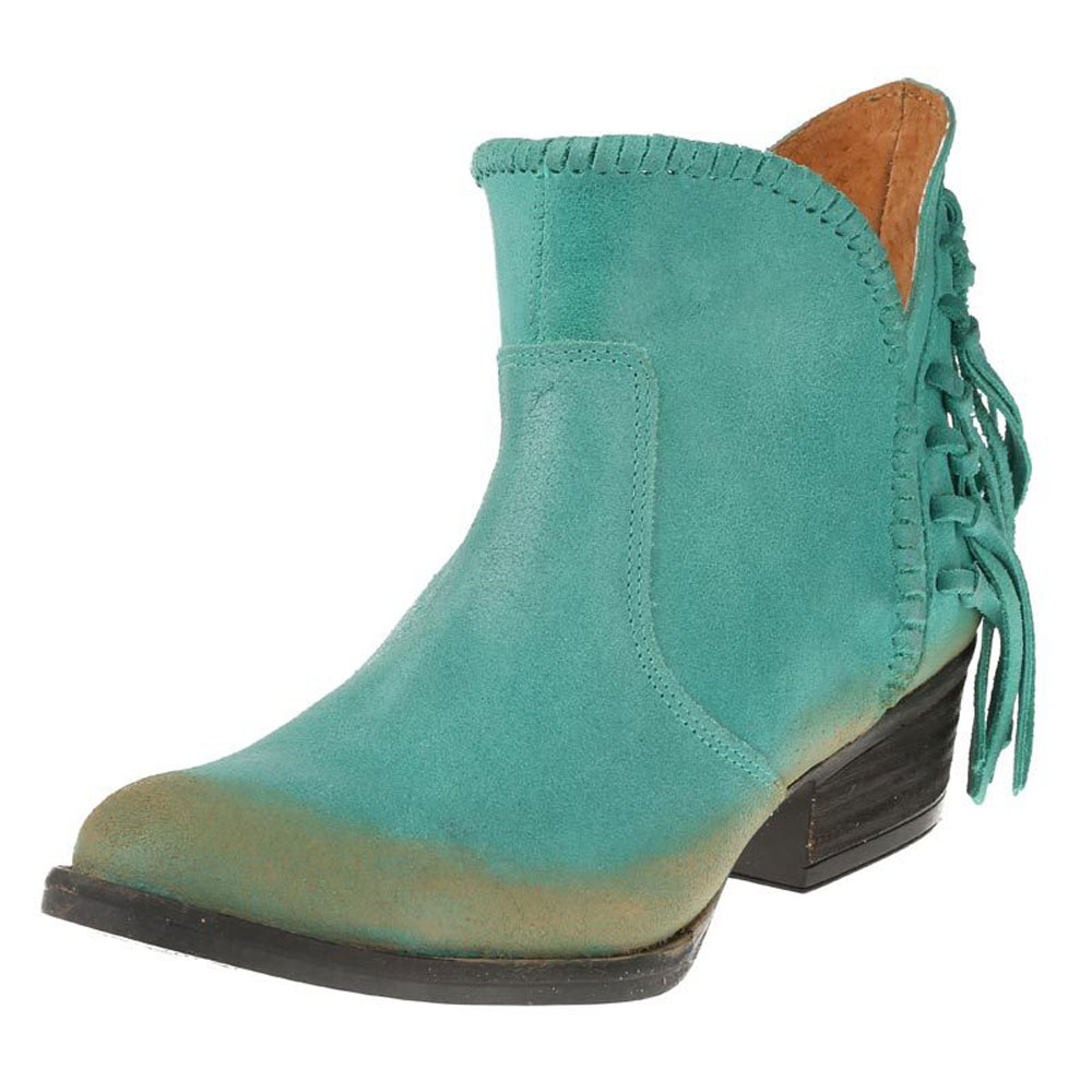 Innovative NIB CORRAL WOMENu0026#39;S TURQUOISE SQUARE TOE BOOTS WITH EMBROIDERY AND STUDS G1266 | EBay