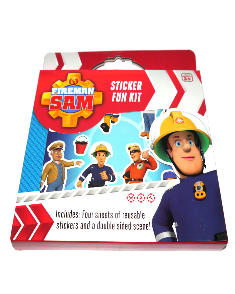 fireman sam childrens activity sets sticker packs colouring party