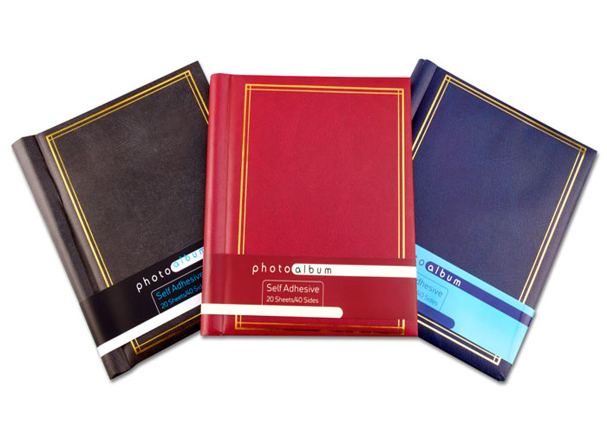 Leather Effect Photo Album 40 Pages Self Adhesive 8 X 11 Sheets