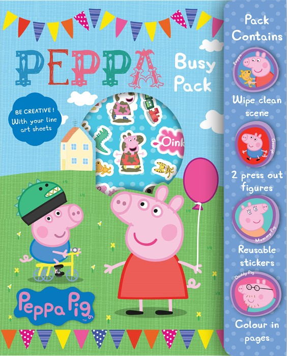 Peppa Pig Busy Pack Childrens Activity Stickers Stocking Filler Gift