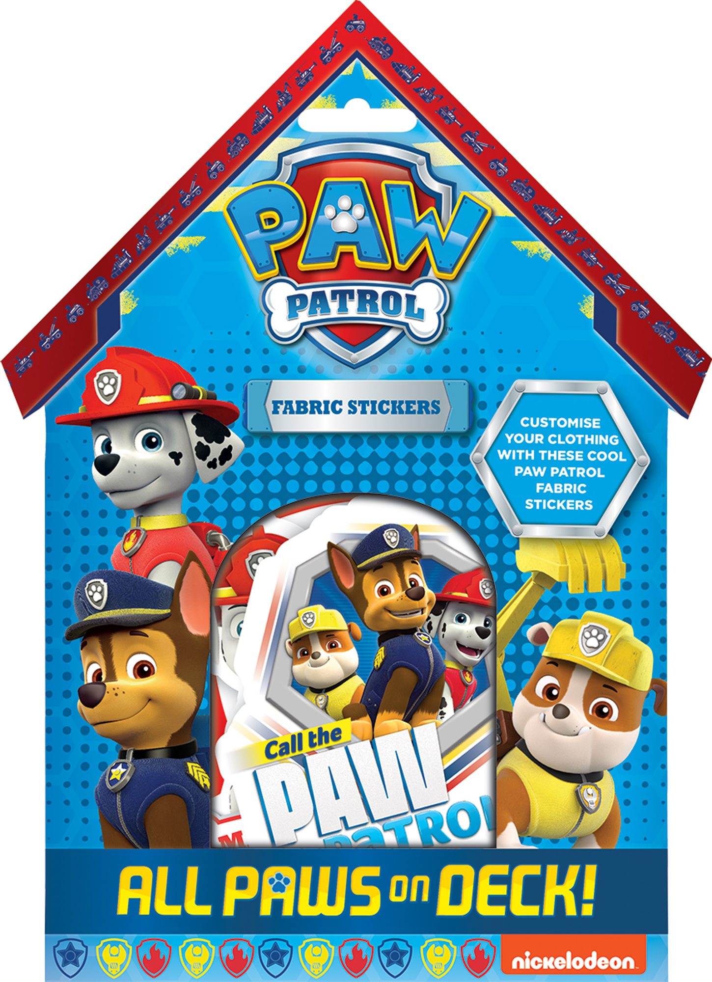 Nickelodeon Paw Patrol Fabric Stickers Clothing Decoration Party Bag Gift Kids
