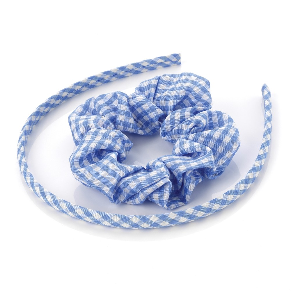 A hard plastic headband, or Alice band Two cloth headbands A headband is a clothing accessory worn in the hair or around the forehead, usually to hold hair away from the face or eyes.