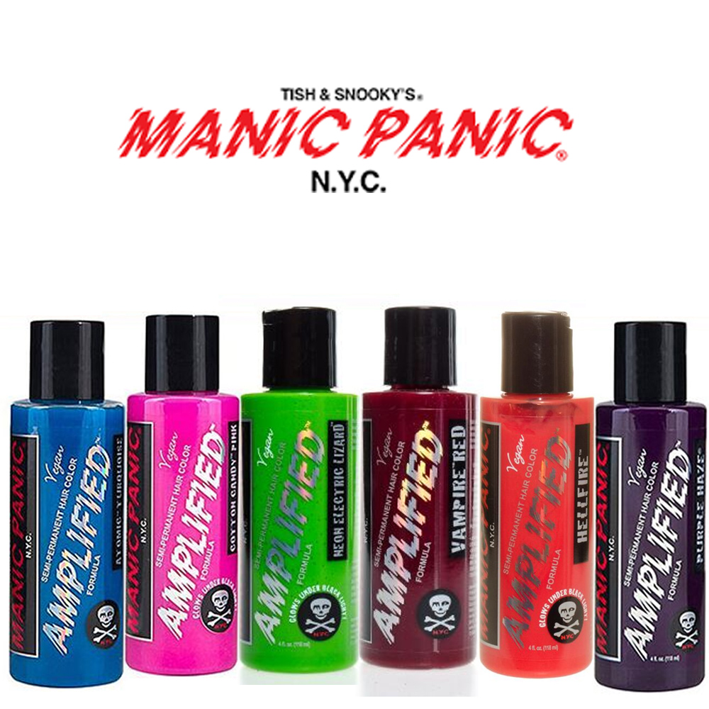 2-x-Manic-Panic-Amplified-Semi-Permanent-Hair-Color-Various-Colours-118ml thumbnail 4