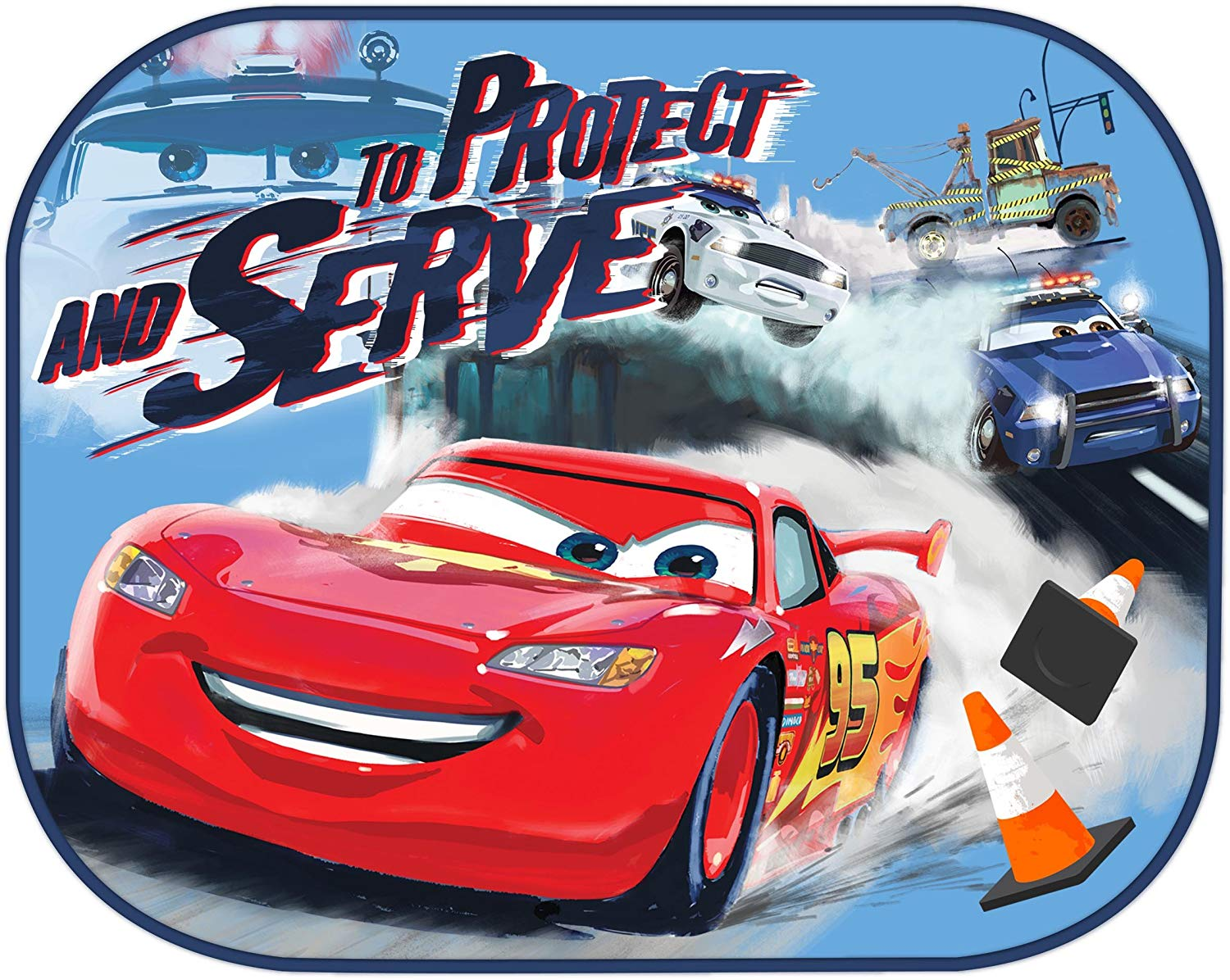 Details about Twin Pack Disney Cars Window Sun Shade Lightning Mcqueen Baby  Window Visor 650fe6ae3d9