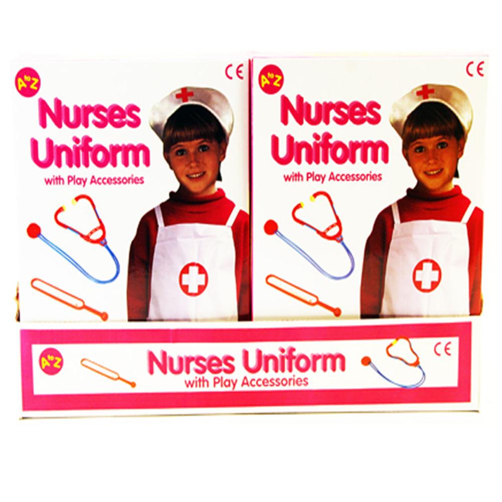 kinder m dchen verkleidung krankenschwester uniform outfit mit spielen ebay. Black Bedroom Furniture Sets. Home Design Ideas