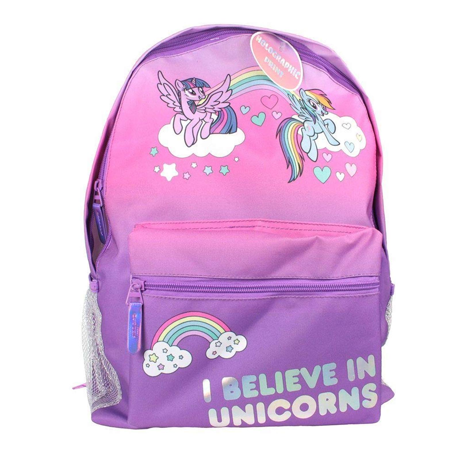 Offiziell Lizenziert Kinder My Little Pony Charakter Silber Rucksack