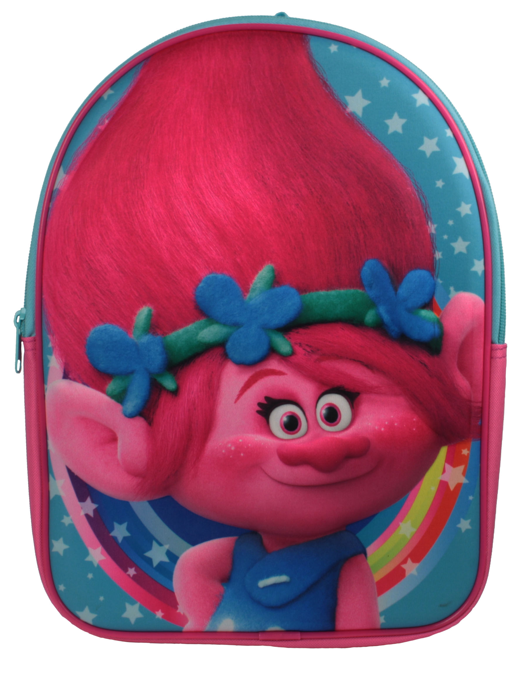 Set de Sac scolaire  multicolore rose Trolls.