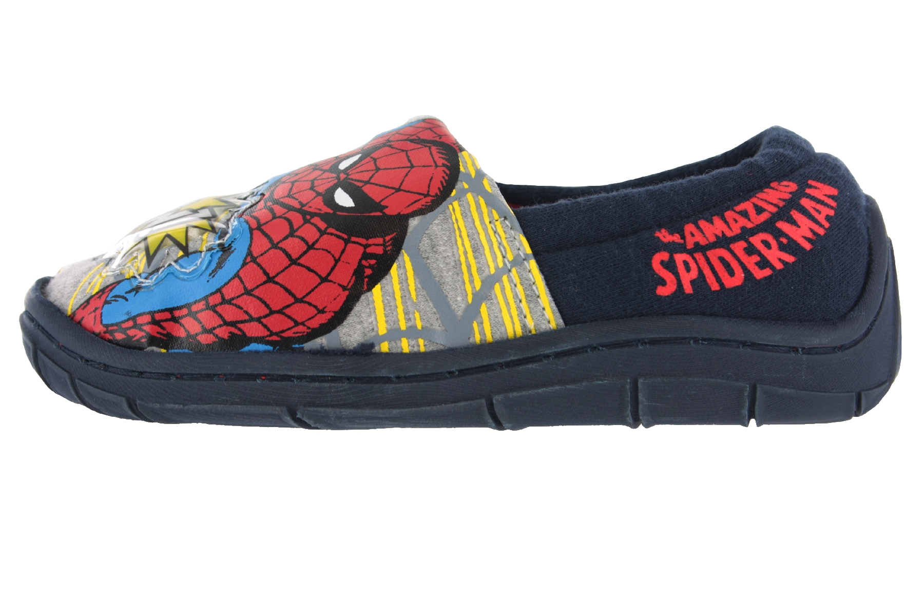 Spiderman Buchanan Flashing Print Blue /&Red Slippers Size 8