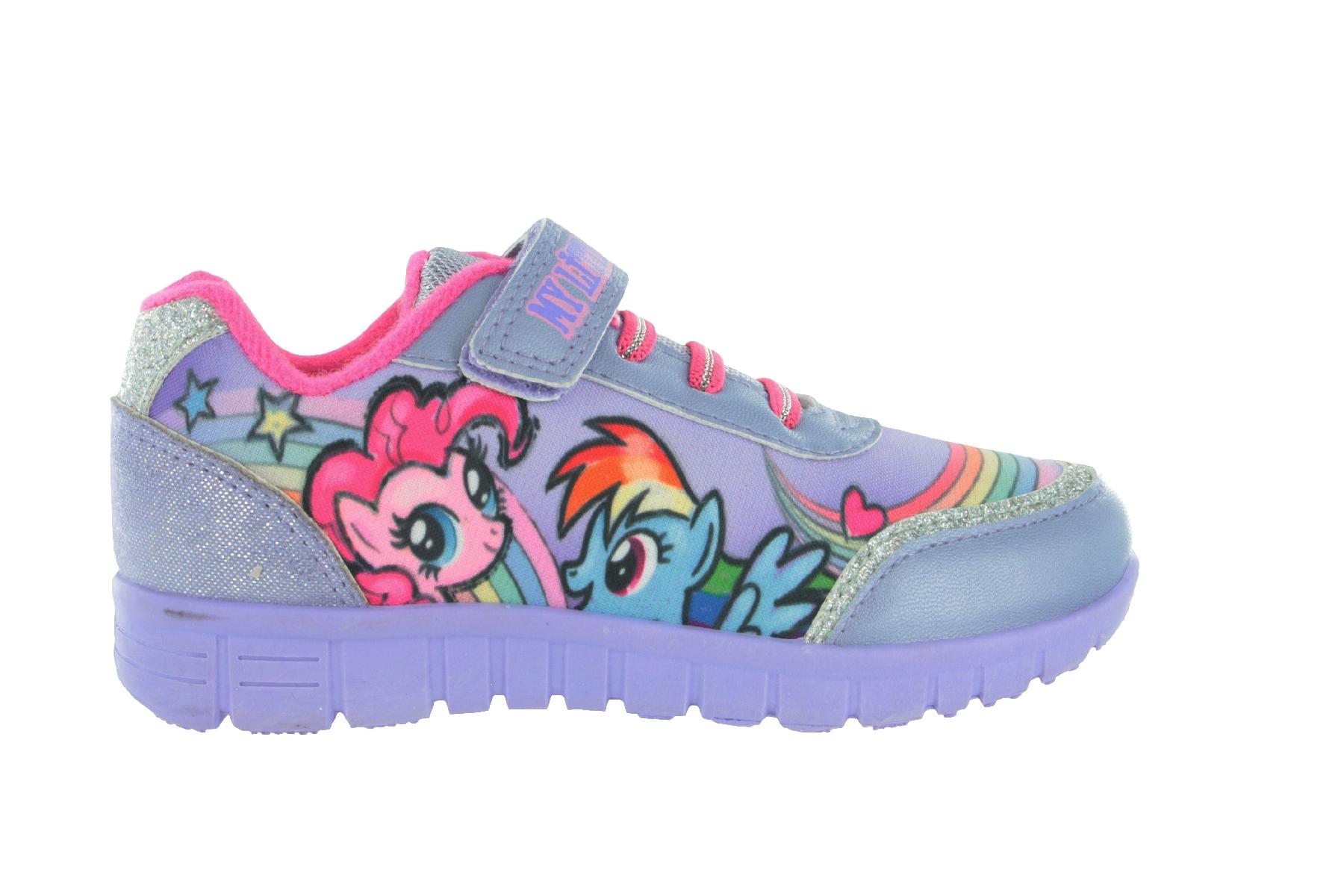 new products 14aba 0a2cd Dettagli su Ragazze Mlp My Little Pony Lilla Scarpe Sportive Gancio & Ciclo  Taglie UK 6 - 12