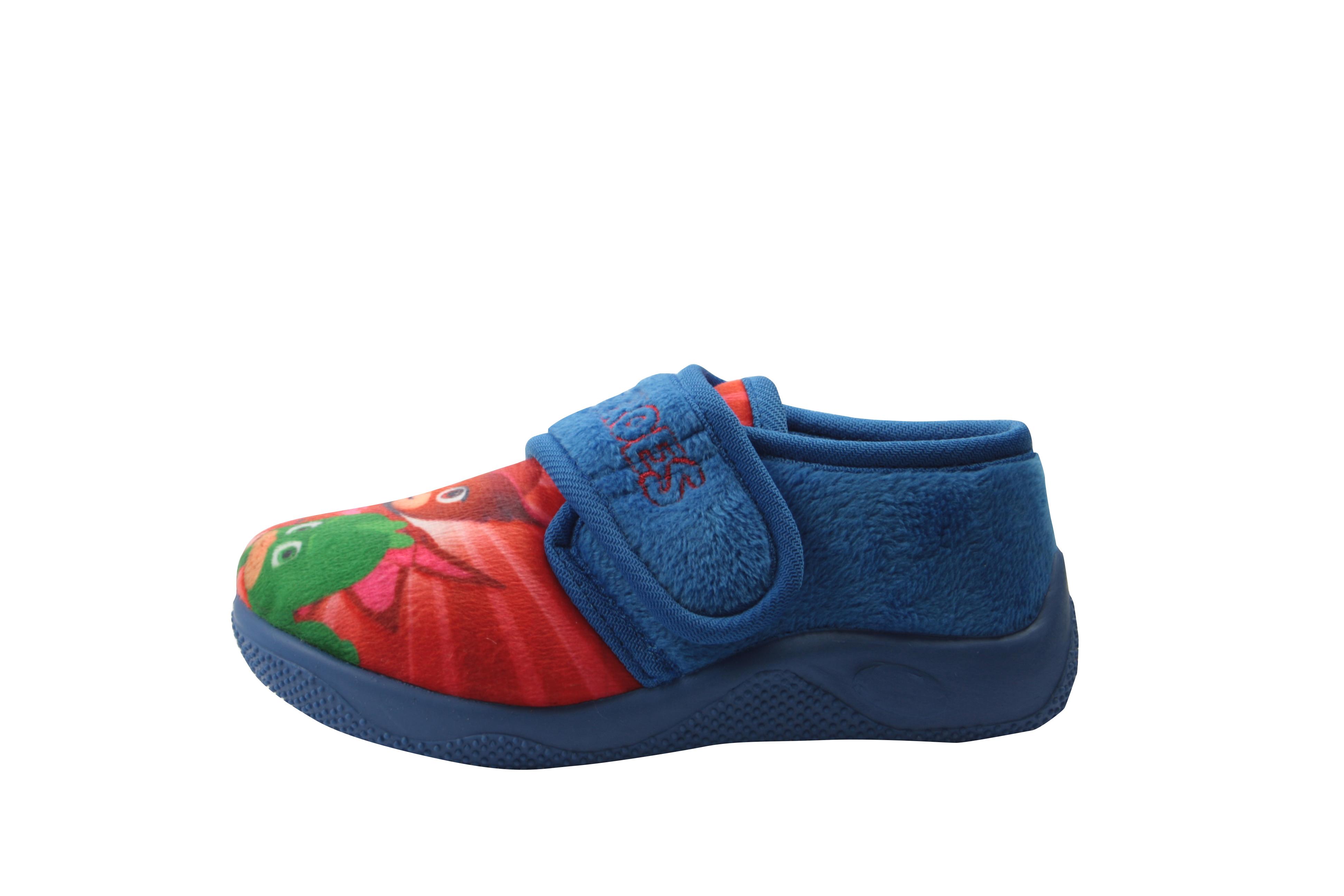 Pj Masks Pierce Boys Kids Full Slippers Blue UK Size