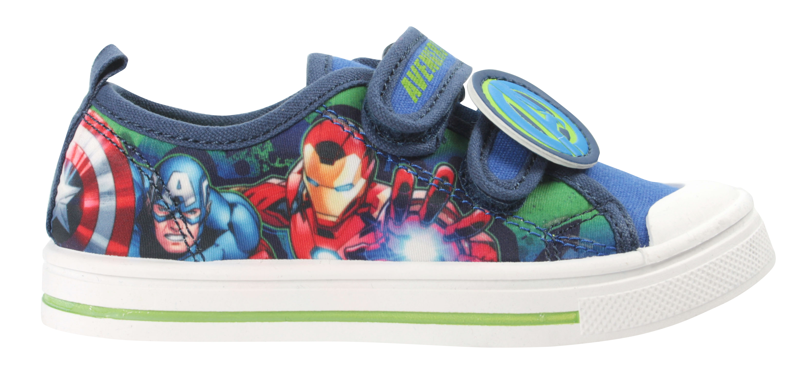 Marvel Avengers Boys Protector Casual Low Top Trainers Blue UK Sizes Child 8-2