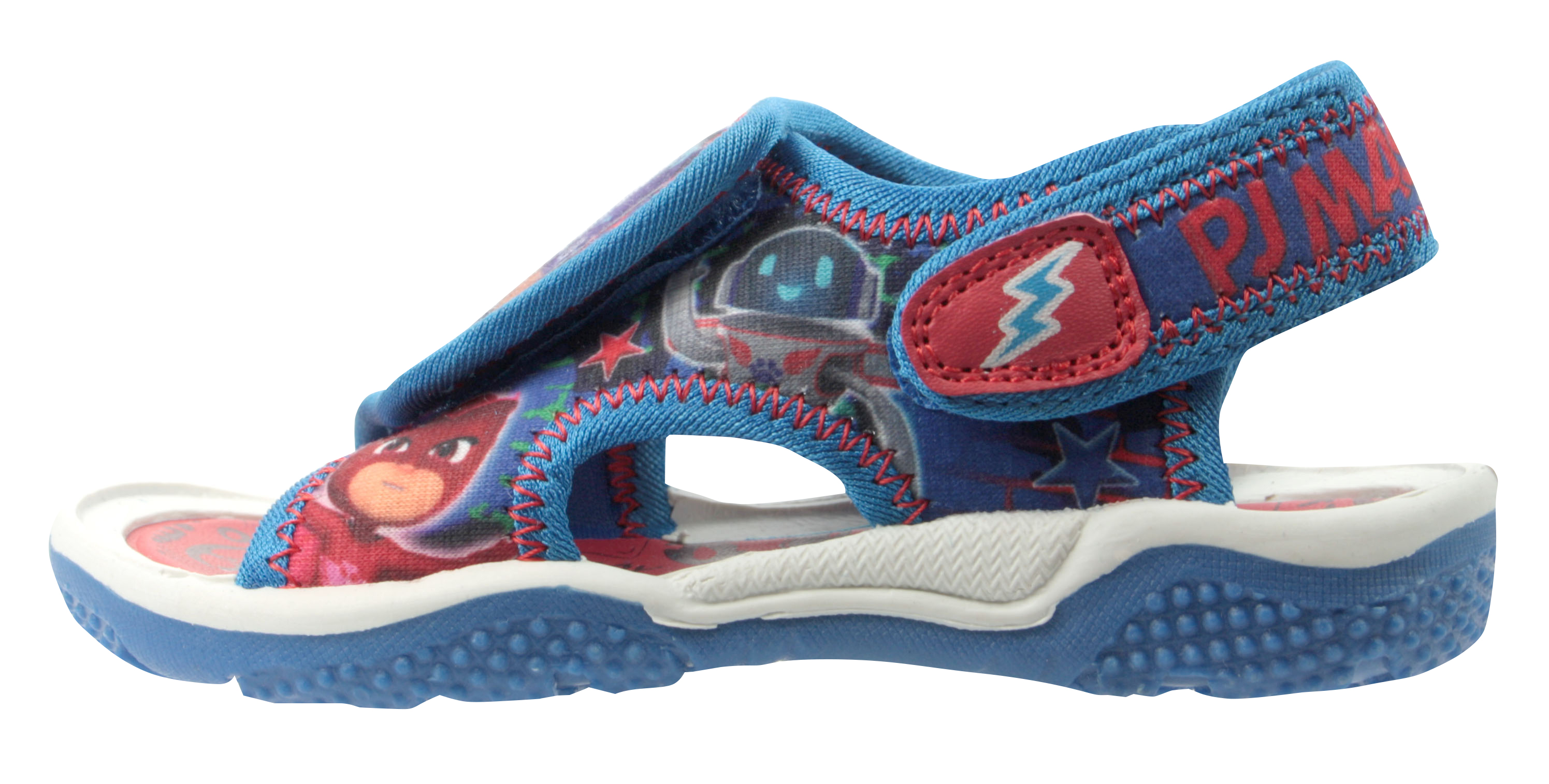 P J Masks Boys Blue Sports Beach Sandals Hook /& Loop Sizes UK 5-10