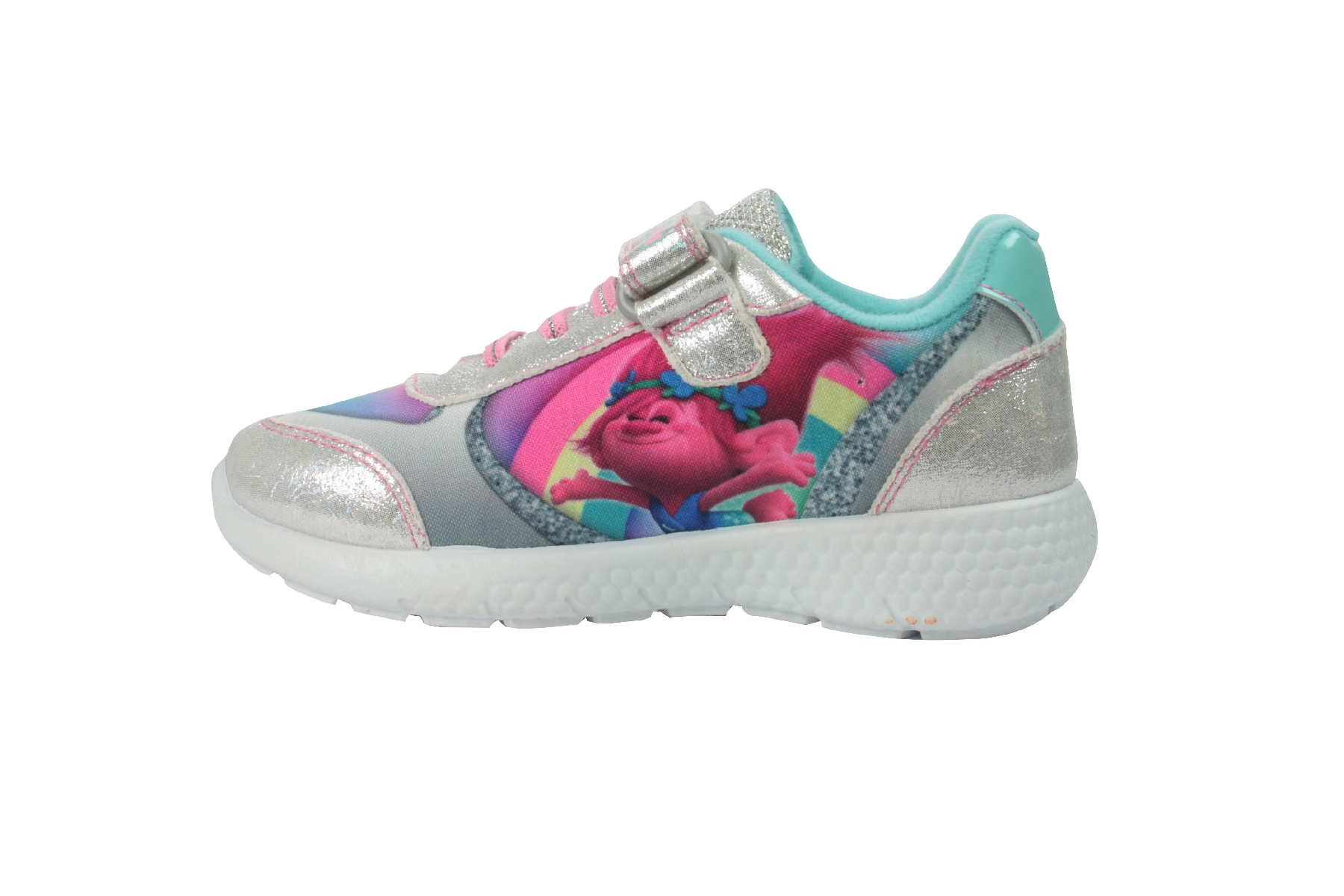 Girls Shopkins Navy /& Pink Canvas Trainers Sport Shoes Hook /& Loop Various Sizes