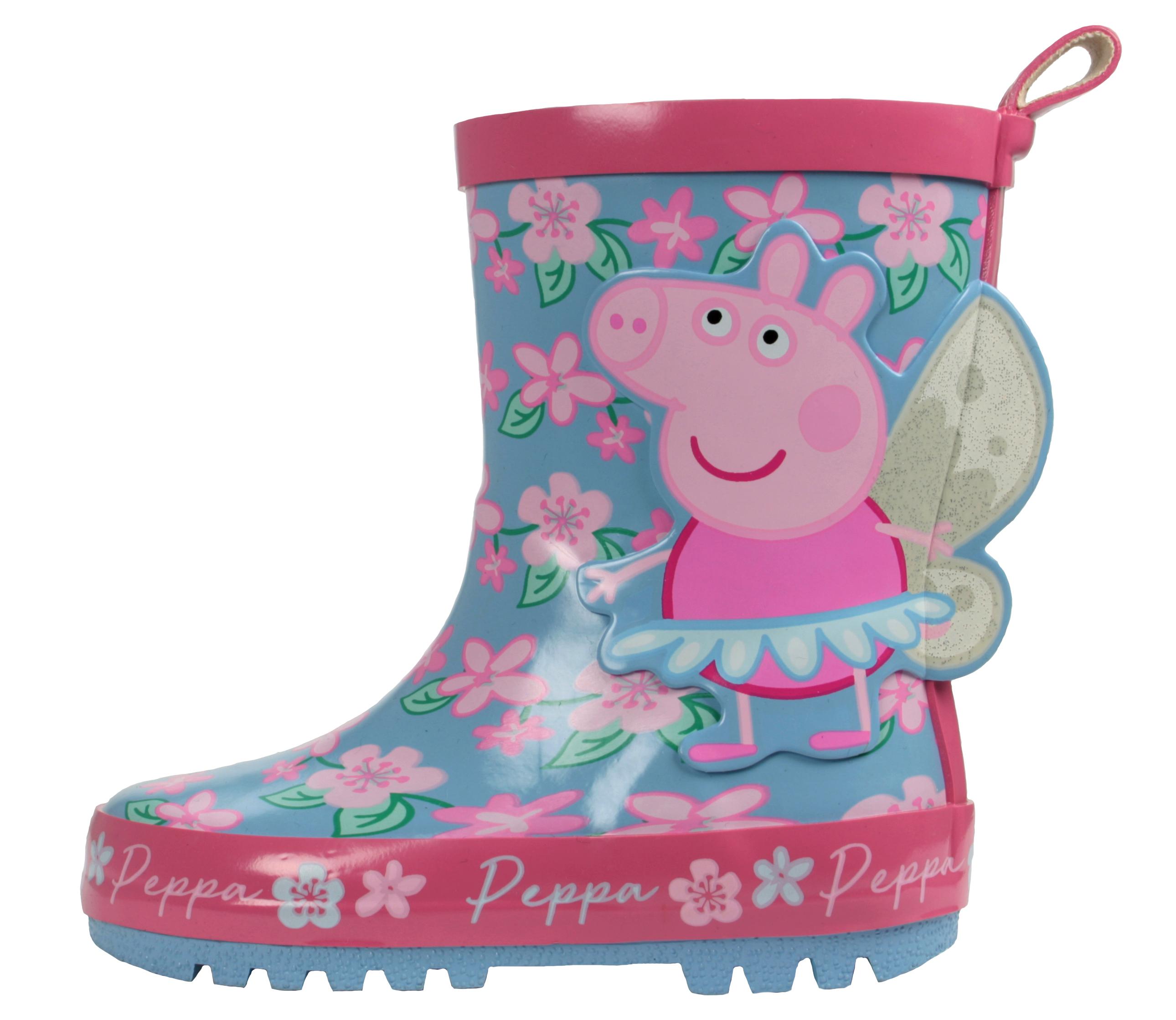 Peppa Pig Floral Pink Wellies