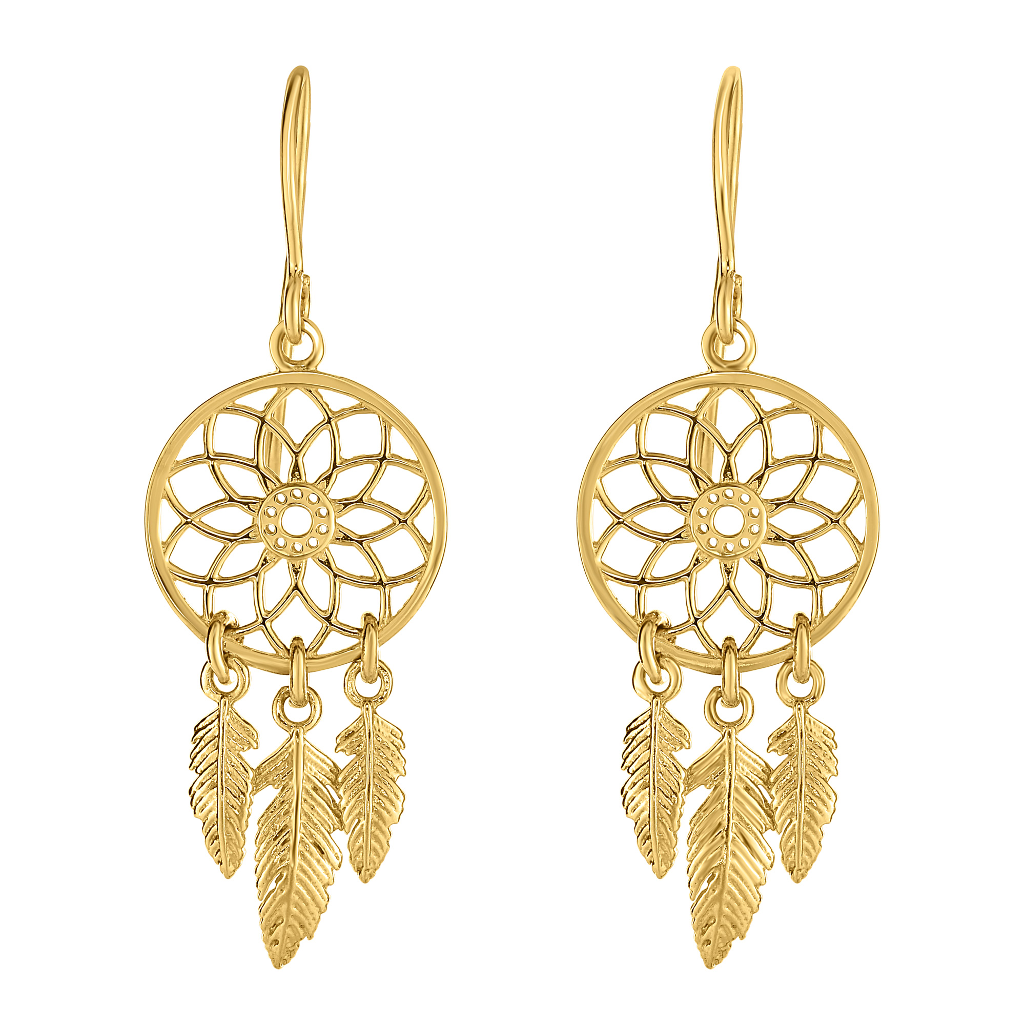 earrings gold jewellery dream itm catcher yellow ebay chandelier