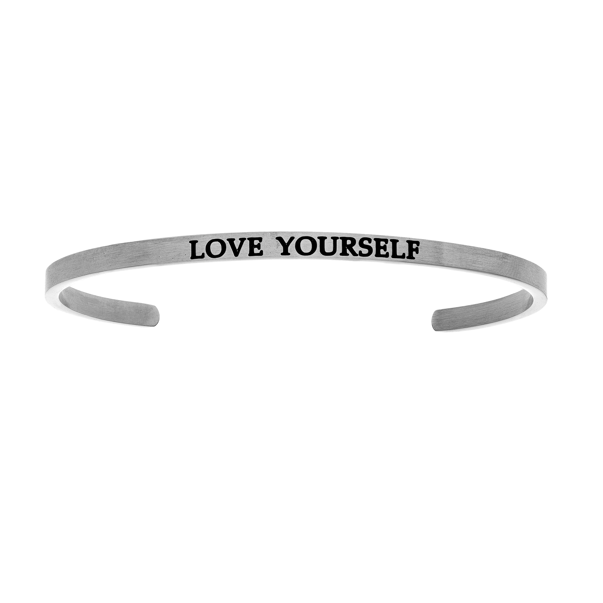 Intuitions Stainless Steel LOVE YOURSELF Diamond Accent Cuff  Bangle Bracelet, 7  Each of these bracelets carries a personal message of inspiration, spirituality or just plain fun. Meant to be worn alone or stacked together for a smart, contemporary look, they're a great self-purchase or as a gift for family or friends. Intuitions are made of stainless steel and come in two styles standard cuff or friendship and fit practically any wrist. Intuitions Jewelry makes the difference in your daily life by designing and creating bracelets and bangles with motivational quotes to inspire you and your loved ones. Giving back $.25 of each bracelet to BABY2BABY