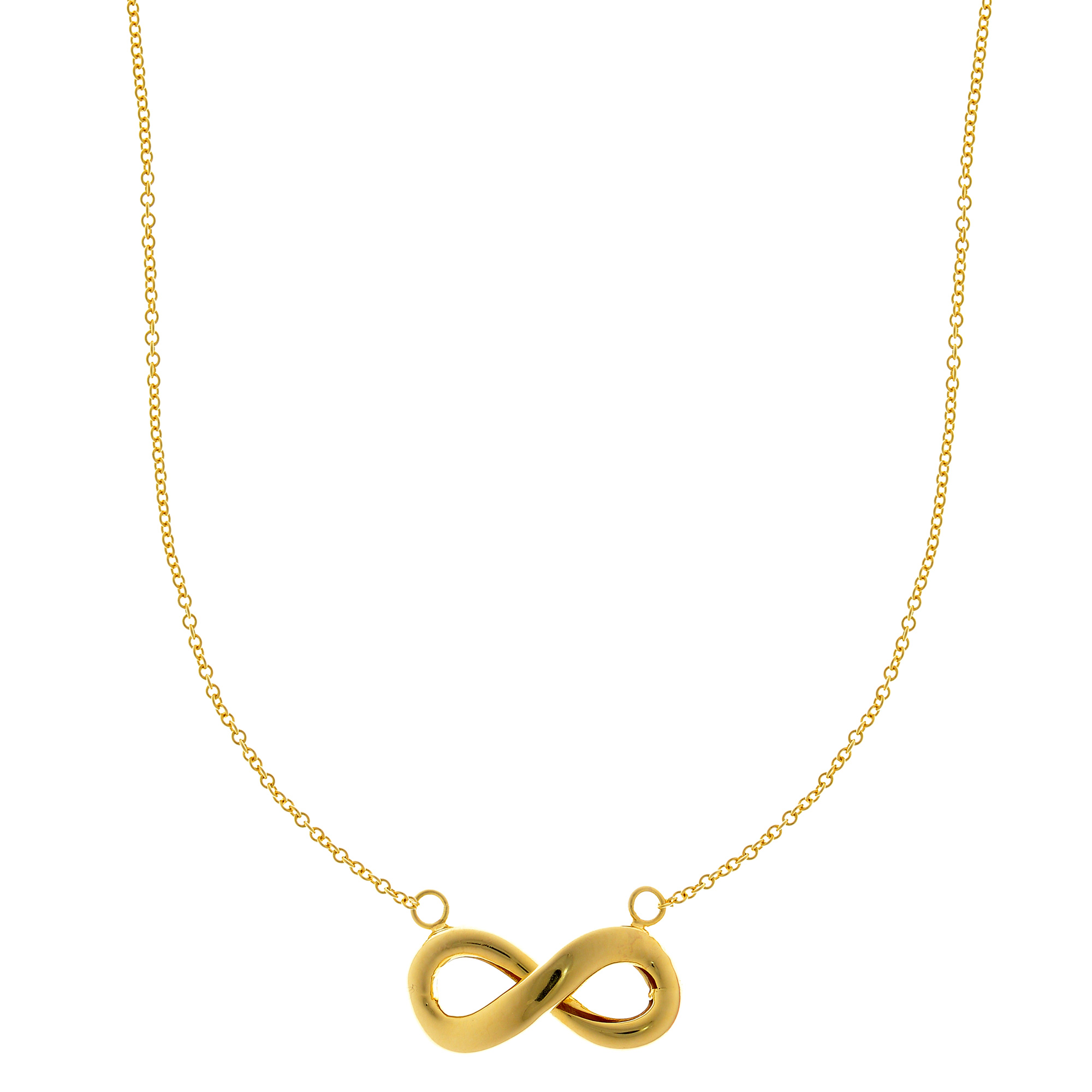 gold pendant infinity product white diamond