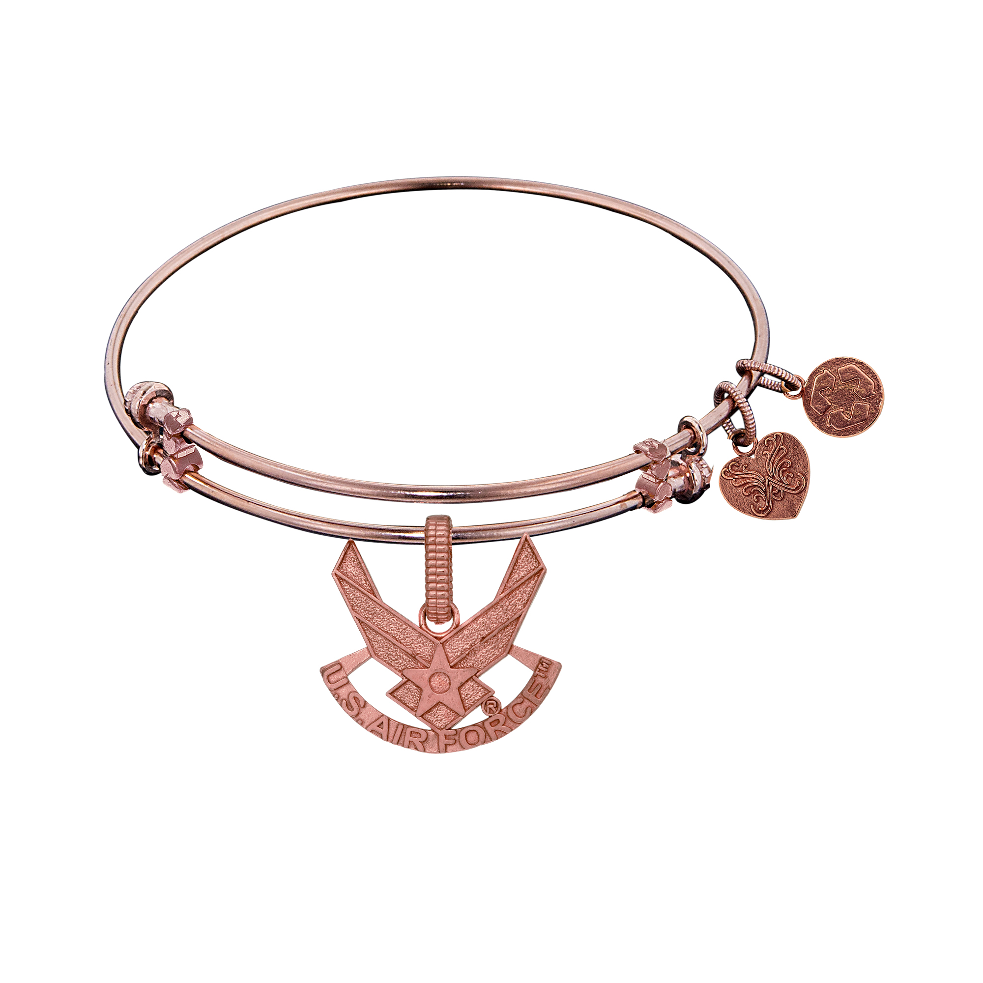 U.S. Air Force Charm Expandable Bangle Bracelet, 7.25″