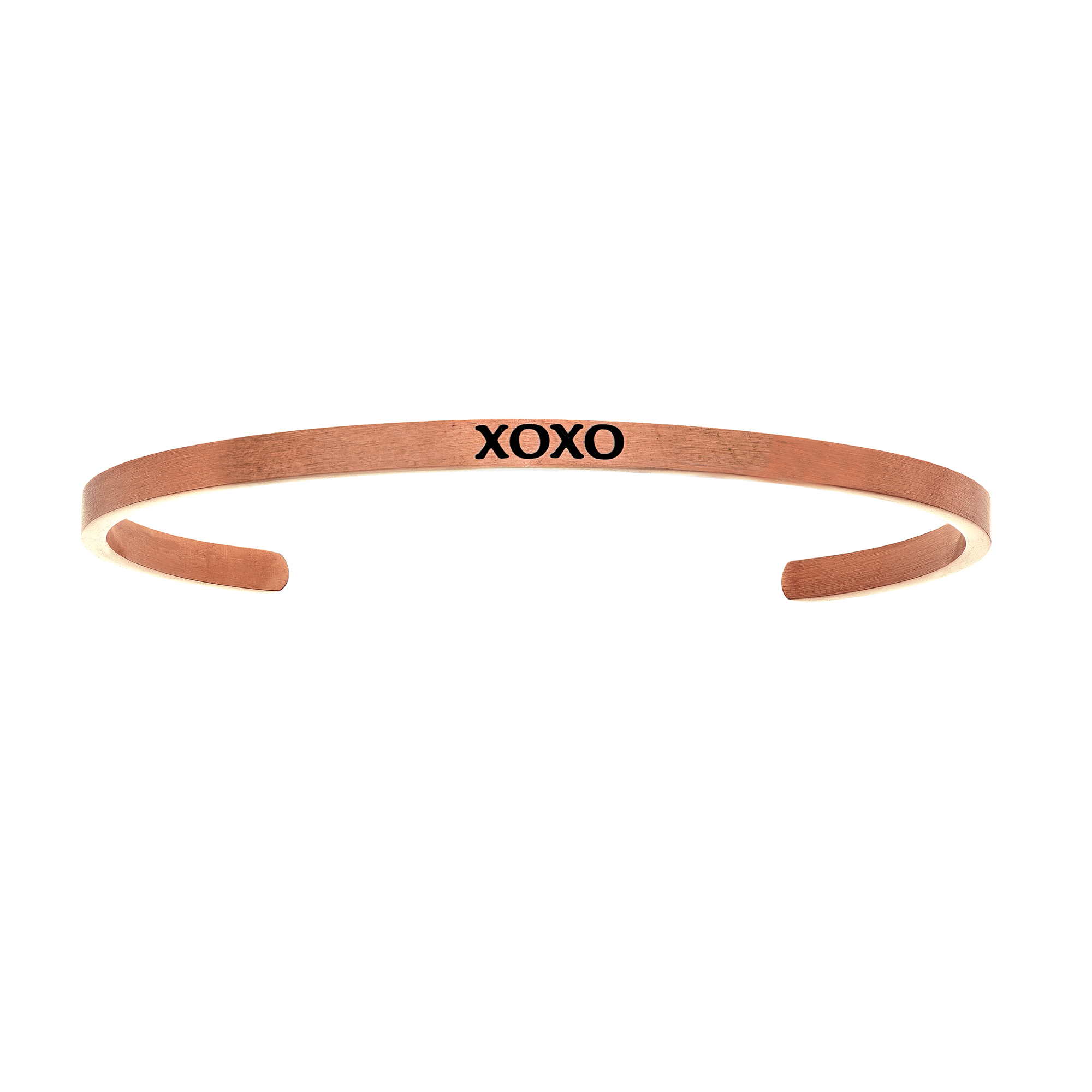 Intuitions Stainless Steel XOXO Diamond Accent Cuff Bangle Bracelet, 7″