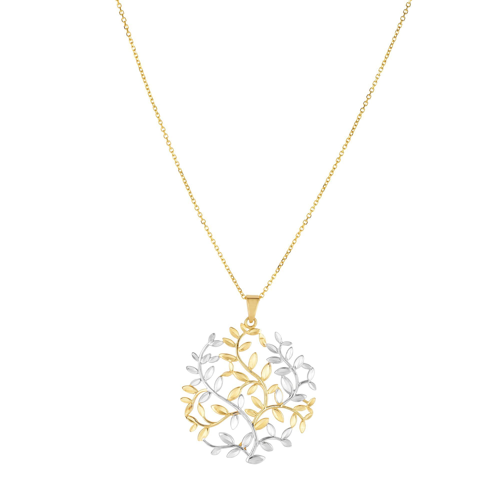 """7.5/"""" 14k or jaune arbre de vie réglable pour Femme Bracelet"""