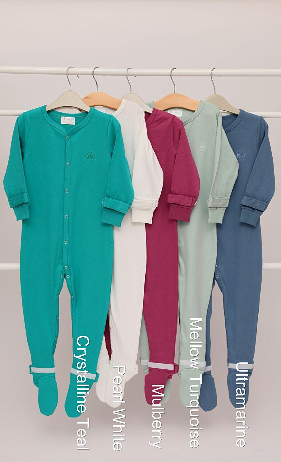 Choose your Colour and Size Justafit Adjustable Baby Sleepsuit 2 Pack