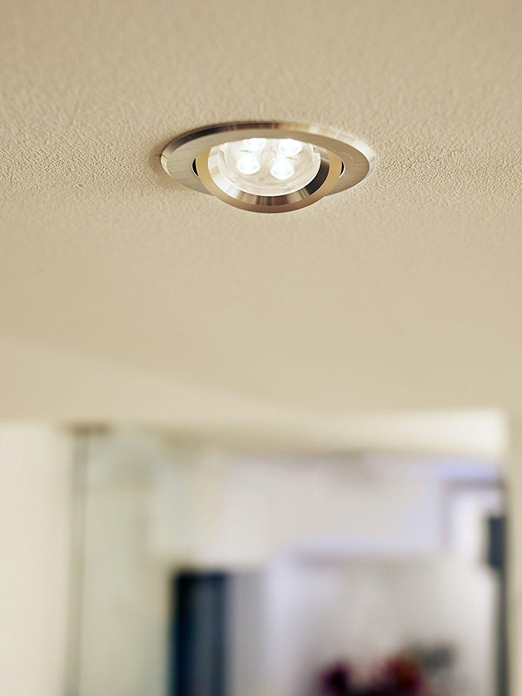 Warm White 4 x Philips LED Glass 4.6w GU10 50w A Spot Light Bulbs Lamp 355lm