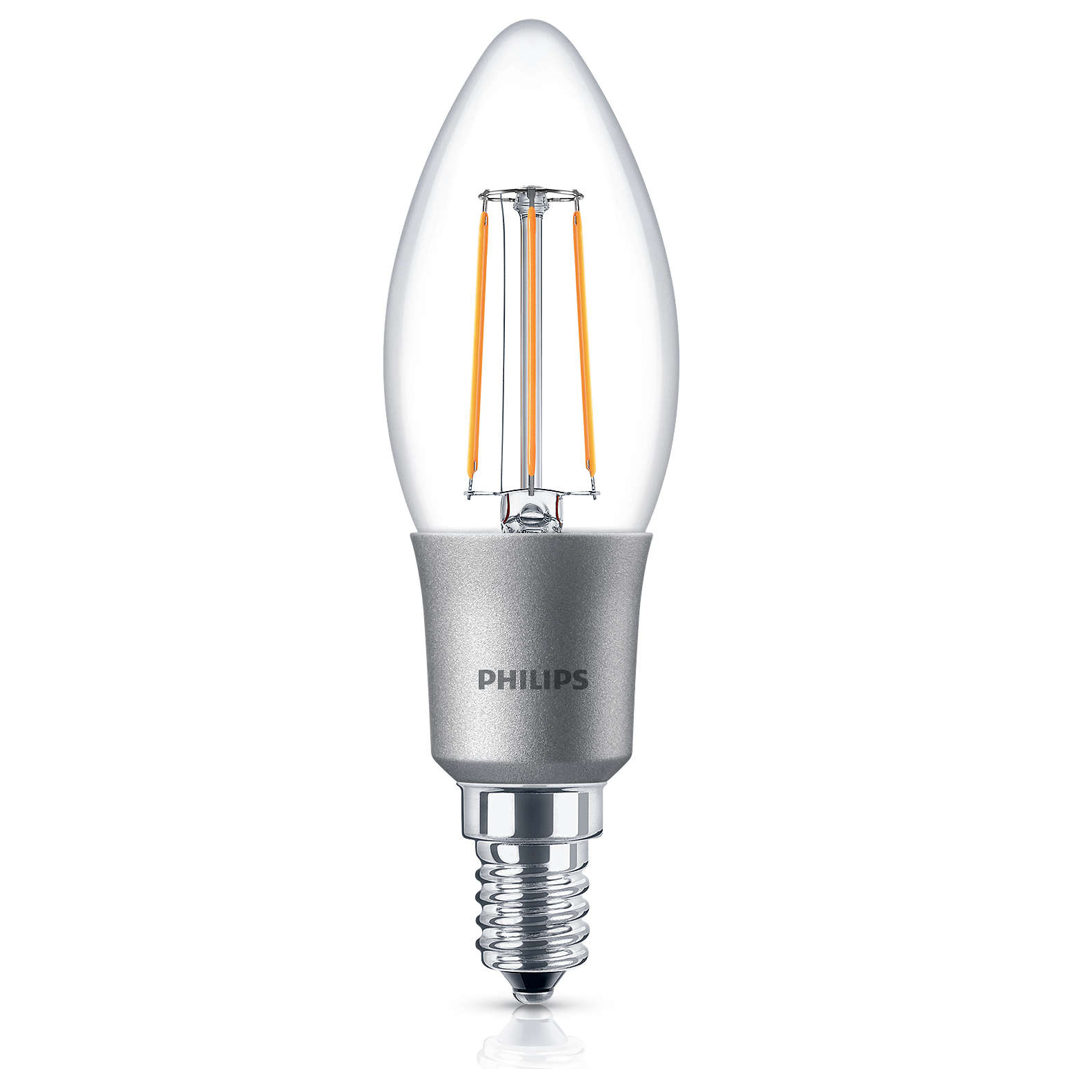 4x philips led 40w dimmable e14 edison warm white candle light bulbs lamps 470lm ebay. Black Bedroom Furniture Sets. Home Design Ideas