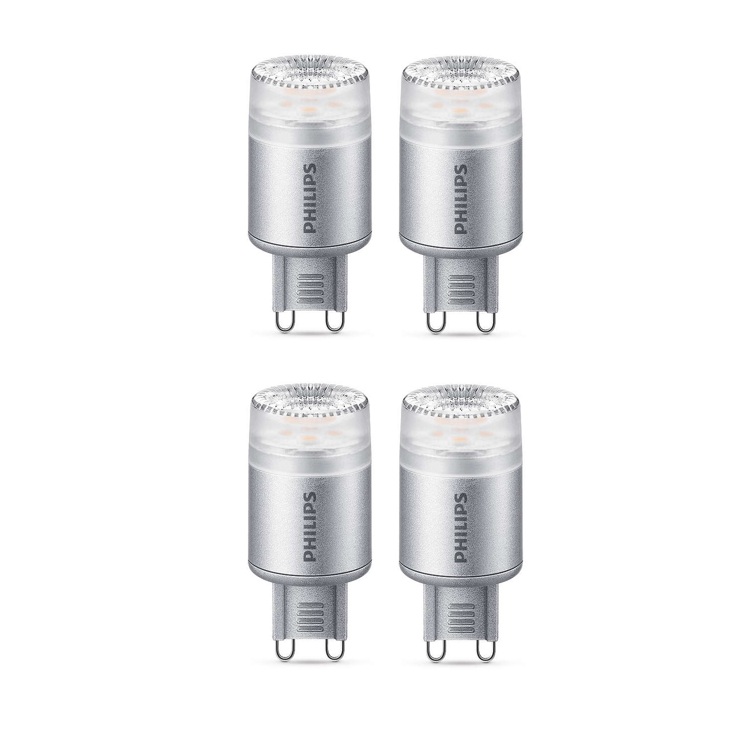 4x philips led 25w g9 dimmable capsule light bulb a 204lm 240v warm white 2700k ebay. Black Bedroom Furniture Sets. Home Design Ideas