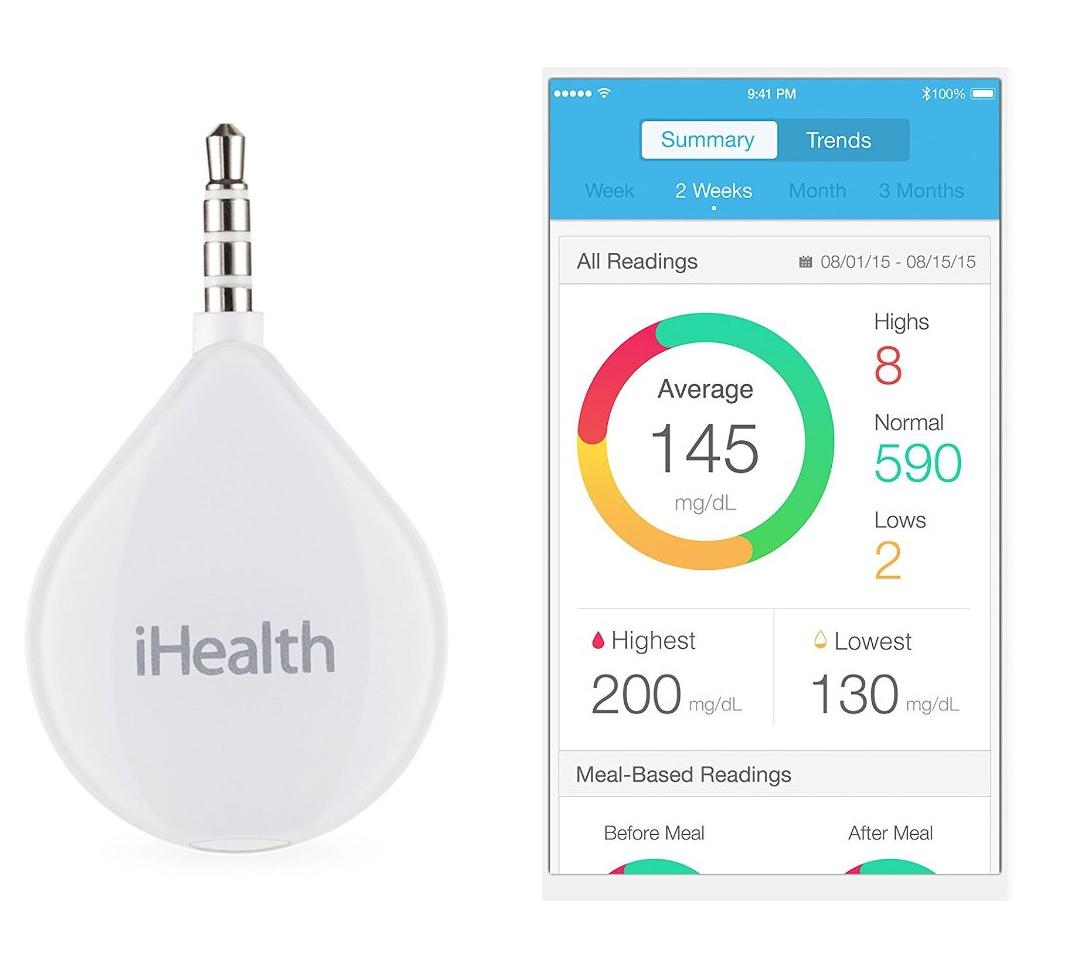 iHealth Align BG1 Smart Diabetes Glukose Test und System Verbindung zu Handy