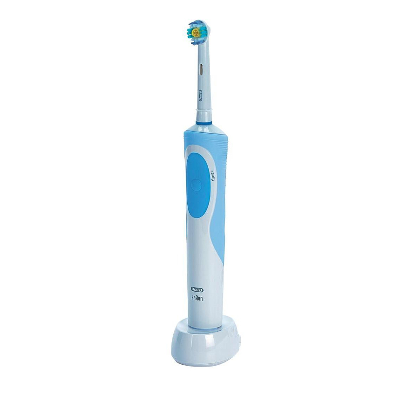 Details about Braun Oral-B Vitality 3D White Rechargeable Electric  Toothbrush 2 Minute Timer