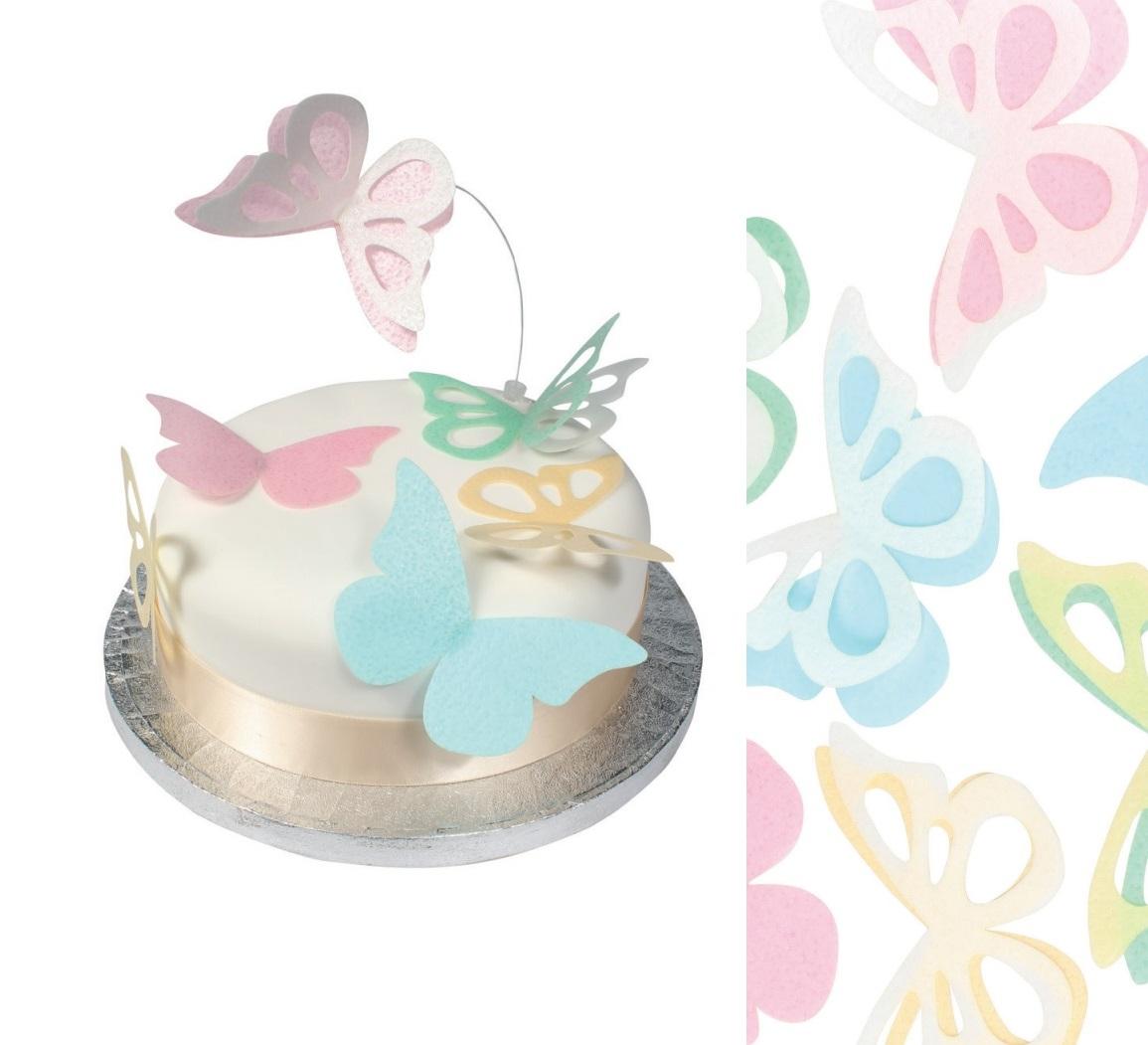 Edible Wafer Decoupage Butterflies Cup Cake Baby Shower Wedding ...