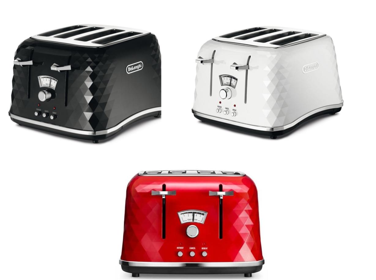 DeLonghi Delonghi Stylish Brilliante 4 Slice Home Bread Toaster With Crumb Tray
