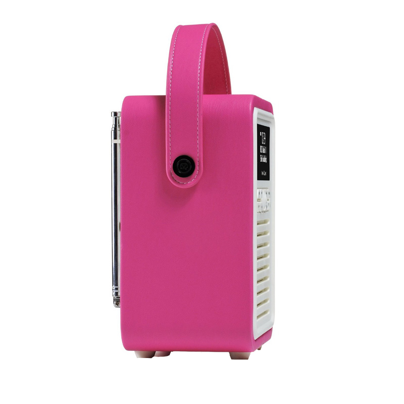 vq pink mini dab fm retro radio bluetooth lautsprecher. Black Bedroom Furniture Sets. Home Design Ideas