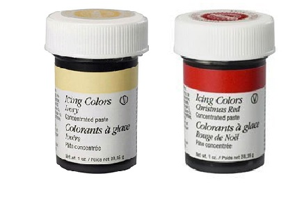 Wilton 2 Colour Icing Paste Gel for Cake Baking Decoration Ivory ...