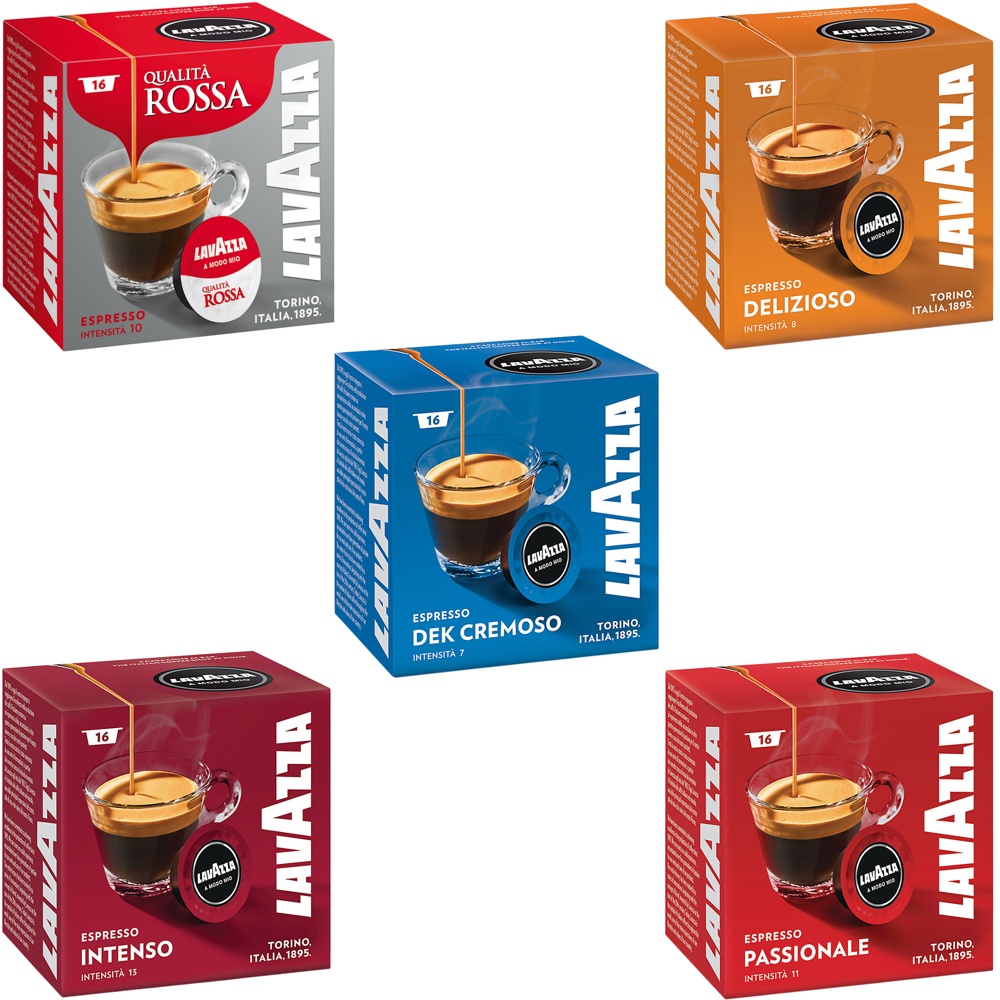 Details About Lavazza A Modo Mio Coffee Machine Pods 96 Capsules Espresso Americano Packs