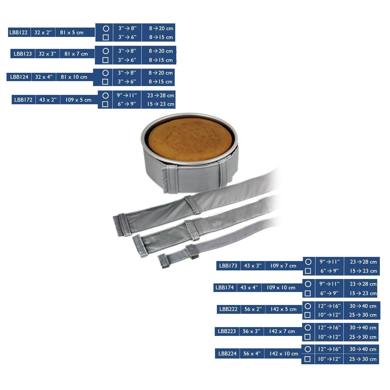 PME-Cake-Level-Baking-Cooking-Bands-Belt-Square-Round-Tin-Pan thumbnail 5