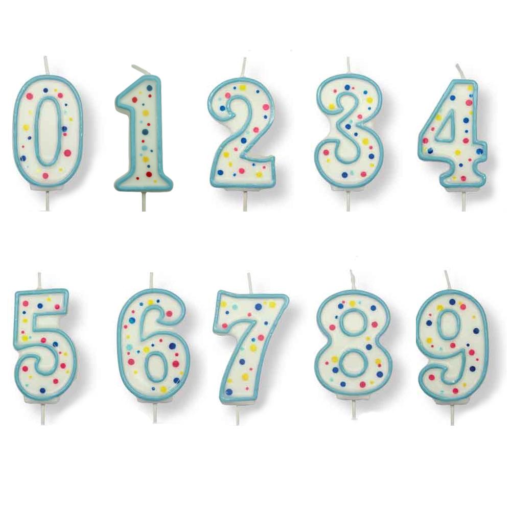 PME Große Zahlen Ziffern 1 Geburtstags-Feier Kuchen Blaue Kerze 6,4cm