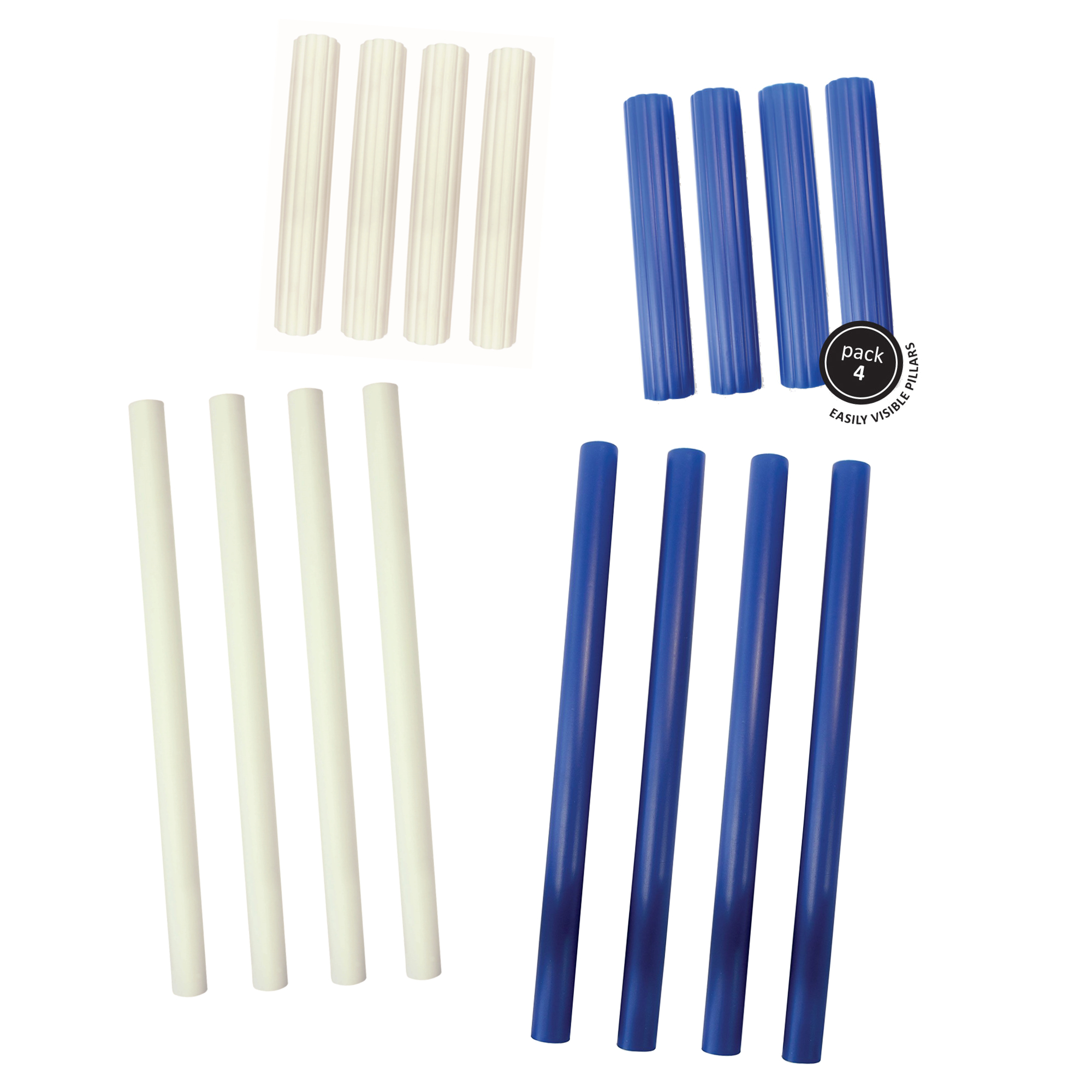"""PME Plastic 12.5/"""" 6/"""" Pillar Wedding Cake Tier Tiered Rod Support Dowels 4 Pack"""