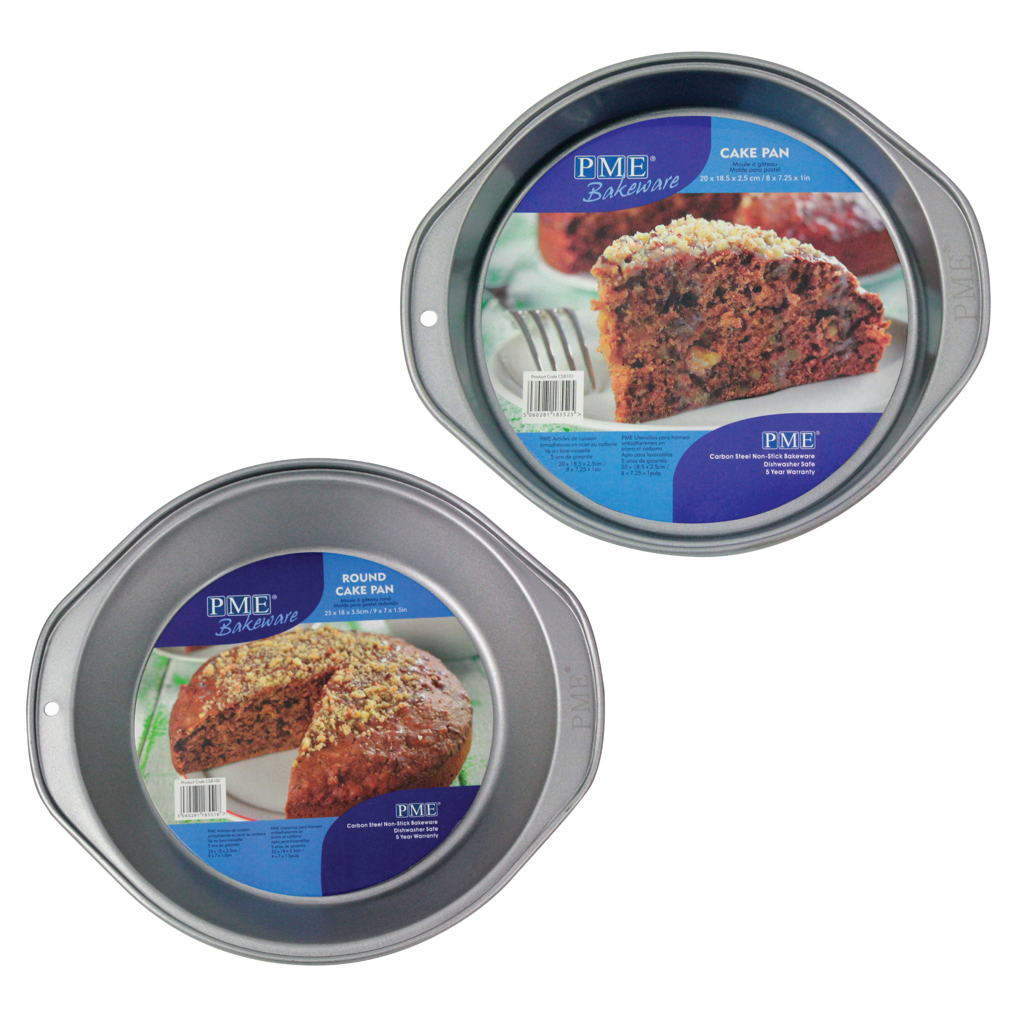 PME en acier au carbone non-stick 8 Mini Oblong cake pan