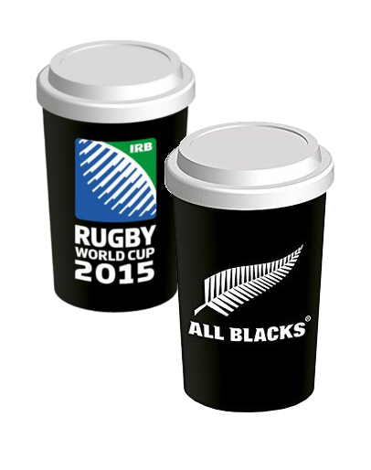 Rugby Ceramic Mug New Zealand All Blacks 2015 World Cup Player Arms Holding Ball