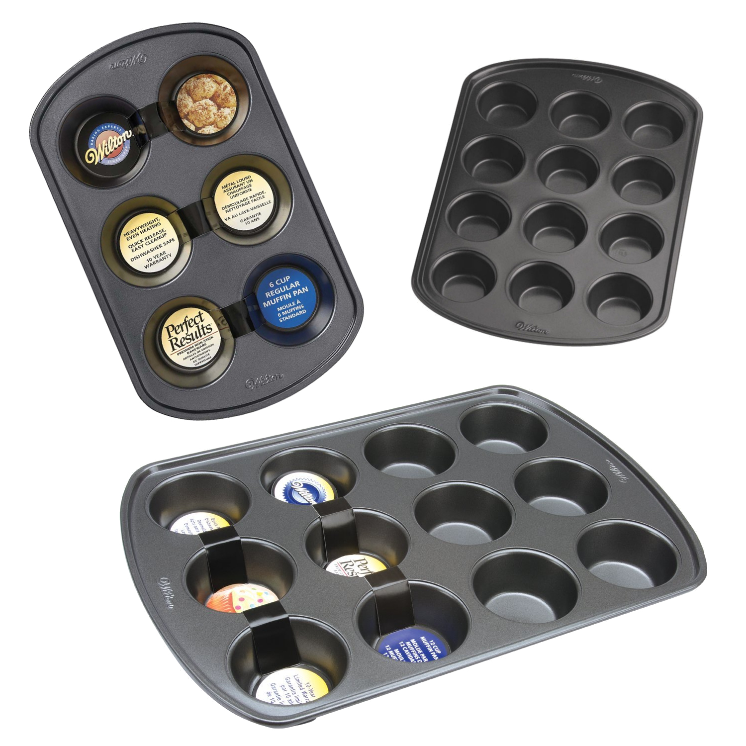 Wilton Muffin and Cupcake Perfect Result Non-Stick Bakeware Baking Tin Trays