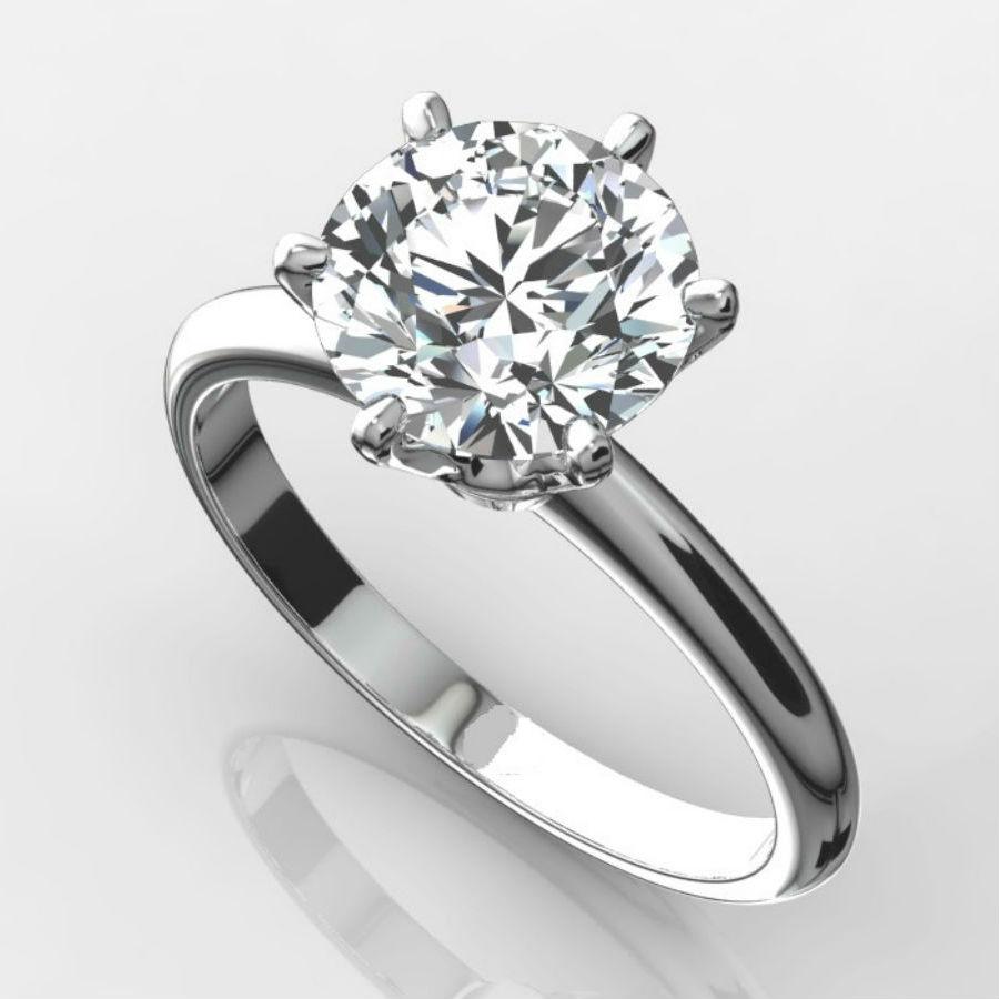diamond solitaire ring 2 carat round vs1 f excellent cut. Black Bedroom Furniture Sets. Home Design Ideas