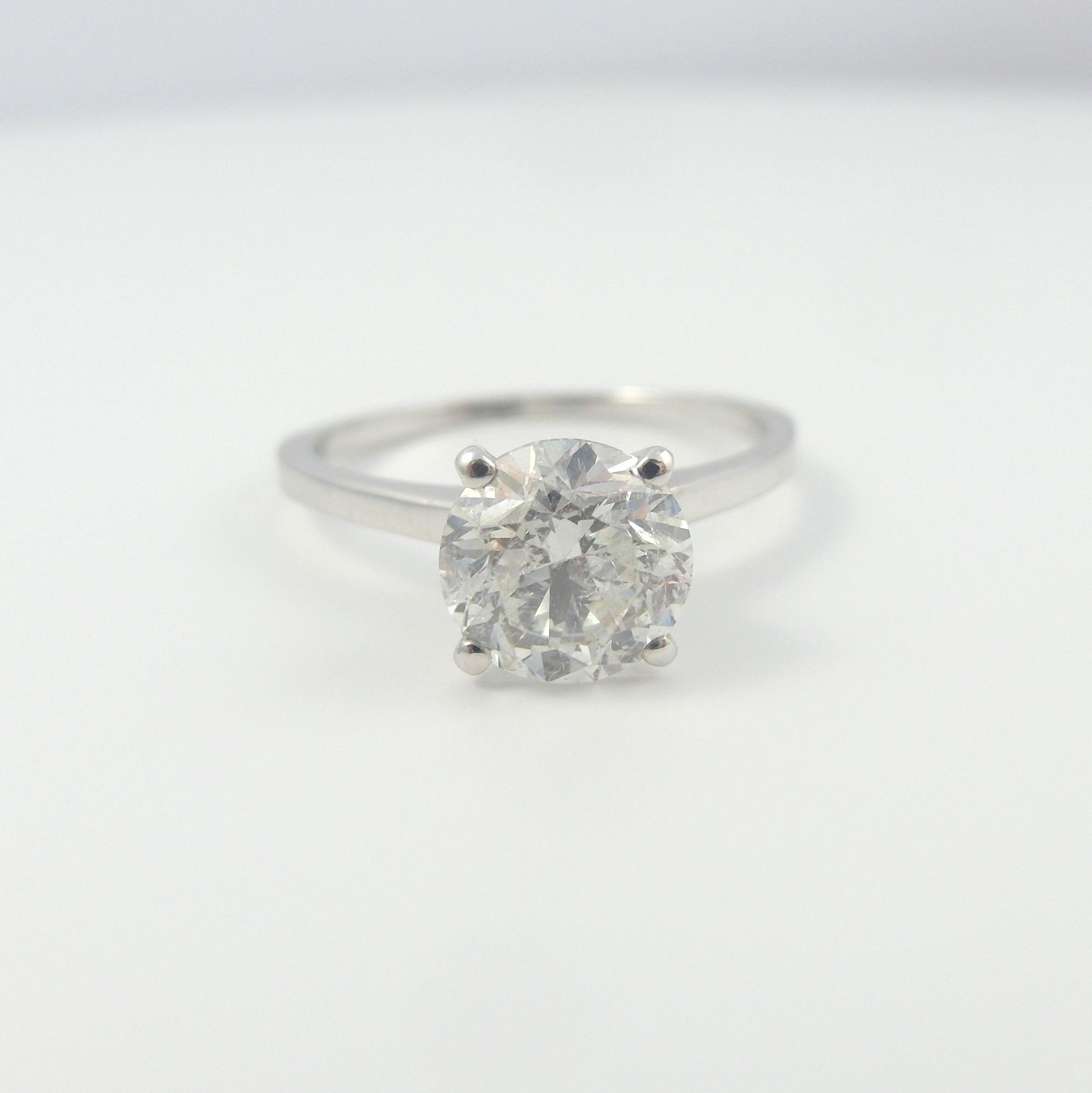 DIAMOND ROUND BRILLIANT RING 4 CARAT REAL VVS EXCLUSIVE BRIDAL 18