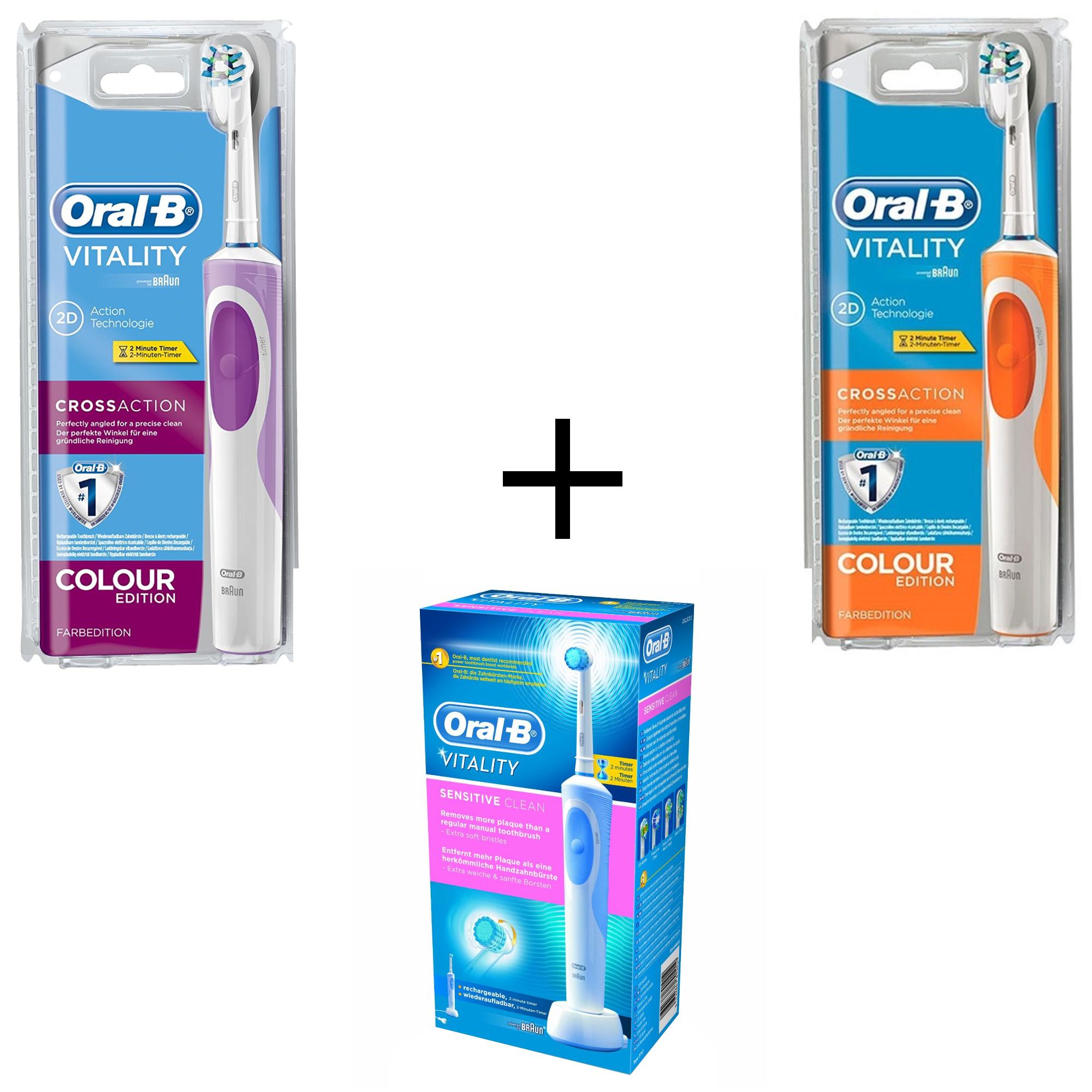 Braun Oral-B Crossaction Purple   Crossaction Naranja cepillo dientes  recargable 60808b5eff05