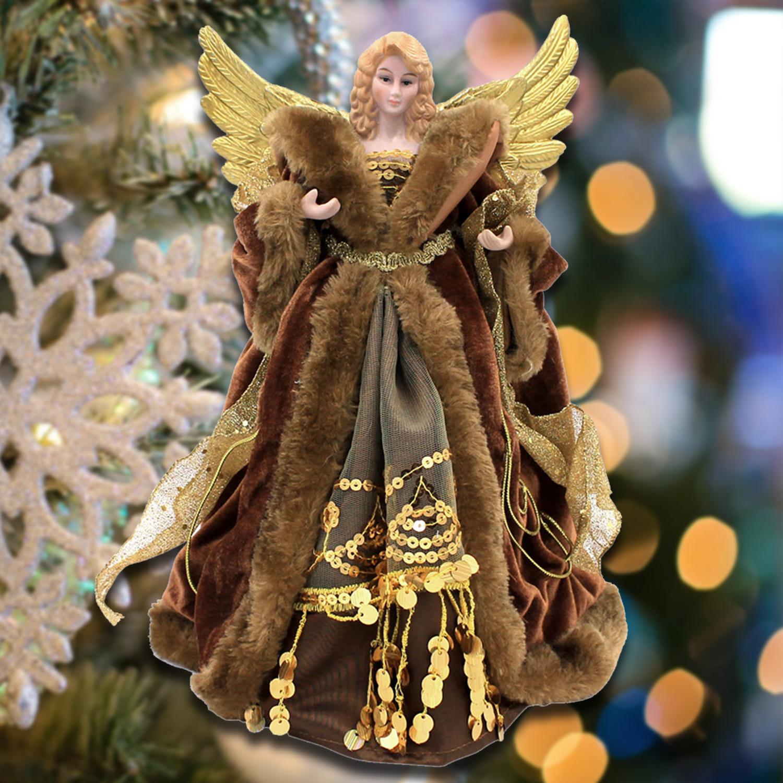 Arbre de No/ël Star Topper paillettes ornement darbre de No/ël d/écoration de f/ête de No/ël d/écoration dint/érieur lumi/ères de la cime des arbres Gold