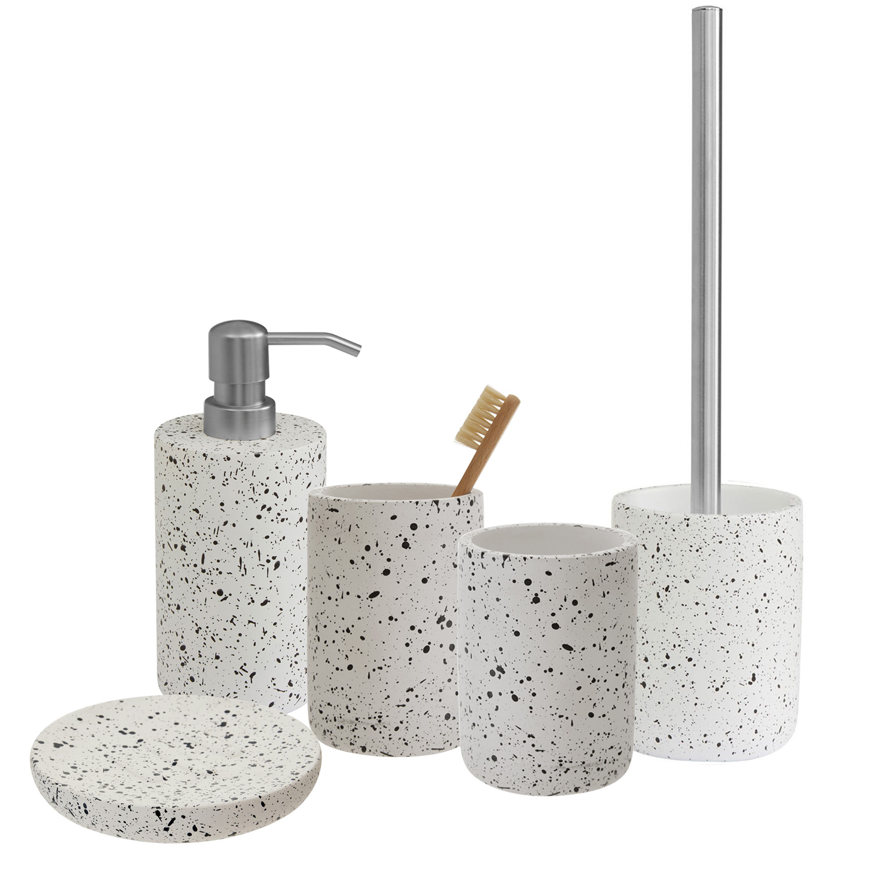 Bathroom Accessories.Gozo Concrete Bathroom Accessories Set Bath Shower Soap Dispenser