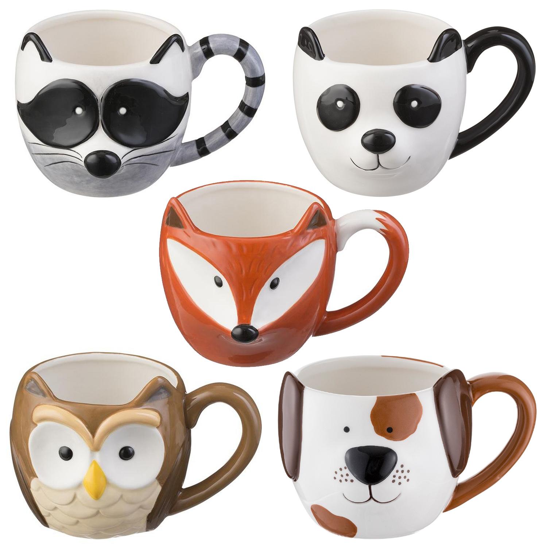 Cute Animal Shaped 3d Ceramic Cup Hot Drinks Coffee Mugs Hand Painted Mug 14oz Ebay