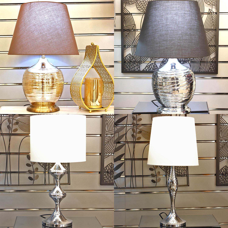 Details about Modern Bedroom Table Lamp Lounge Desk Living Room Bedside  Night Light Lampshade