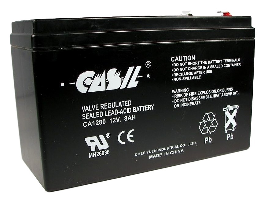 casil 12v 8ah for johnlite cy 0112 7 5ah spotlight battery. Black Bedroom Furniture Sets. Home Design Ideas