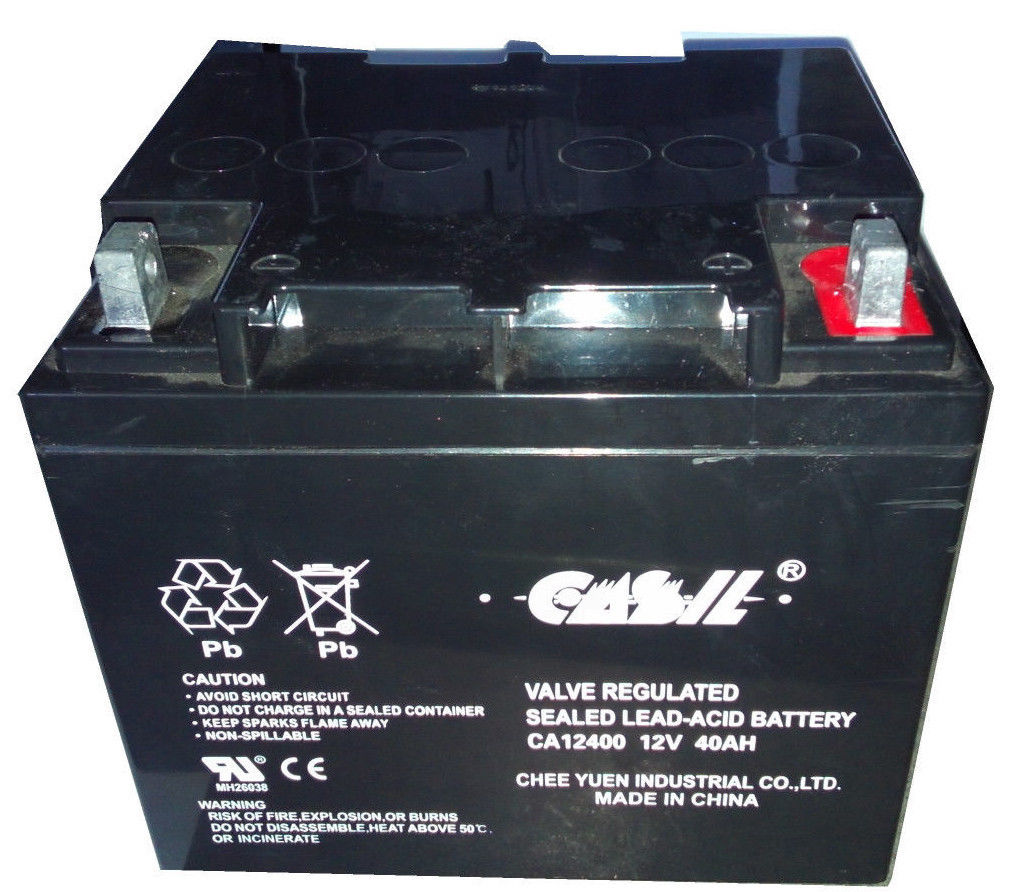 casil ca12240 12v 40ah for wheelchair battery replaces 38ah yuasa np38 12 ebay. Black Bedroom Furniture Sets. Home Design Ideas